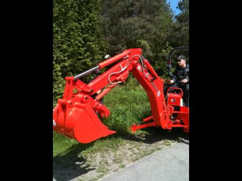 Kubota L Tractor Bh92 Backhoe Demonstration With