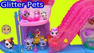 Littlest Pet Shop Glitter Pets Exclusive LPS Set Unboxing at Disney Princess Palace Pets Castle