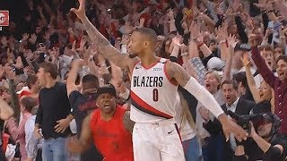 Damian Lillard SHOCKS CROWD WITH GAME WINNER VS THUNDER IN GAME 5! Thunder vs Blazes Game 5