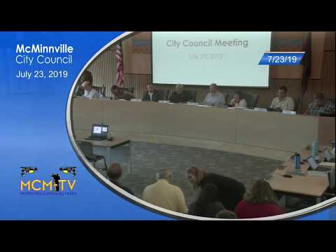 McMinnville City Council Meeting 7/23/19