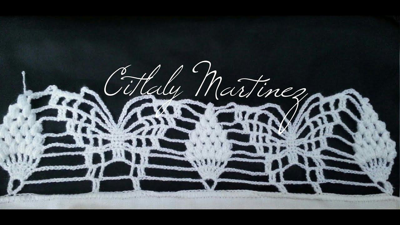 Orillas De Mariposas En Crochet   crochet orilla de pi 241