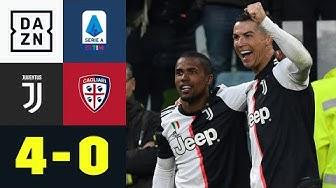 Premieren-Hattrick für Cristiano Ronaldo: Juventus - Cagliari 4:0 | Serie A | DAZN Highlights