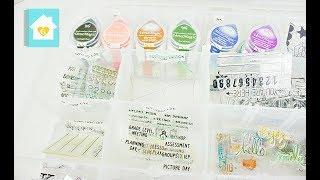 planner stamp organization   artbin