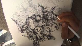 """Art By Tai Time Lapse Drawing - """"Heritage of My Father"""""""
