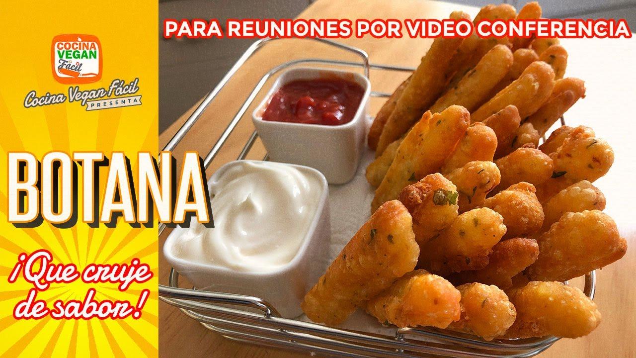 Botana ¡Crujiente y deliciosa! para reuniones por video conferencia - Cocina Vegan Fácil
