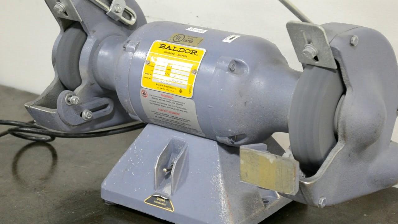 Baldor 7307 Heavy Duty 7 Quot Pedestal Grinder Buffer 1 2hp