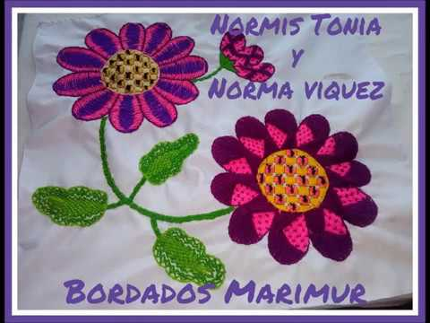 Bordado Fantasia marimur.  Día de las madres, mayo 2018.