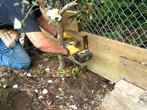 Strengthen garden sleepers 1 - YouTube