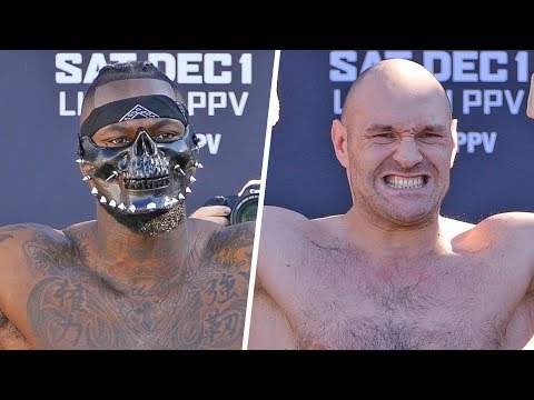Deontay Wilder vs. Tyson Fury | WEIGH IN & FINAL FACE OFF