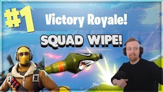 SQUAD WIPE - Rocket Launcher & Launch Pad - FORTNITE Battle Royal Gameplay