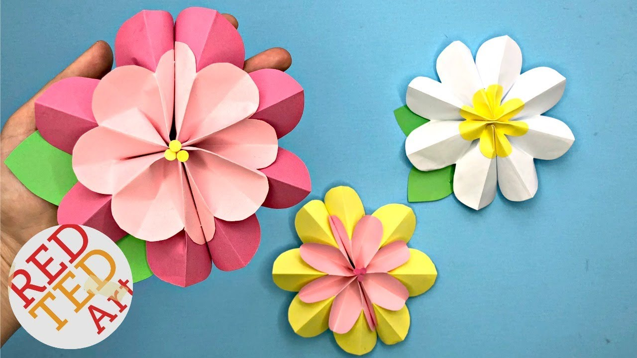 Easy Paper Flower Diy 3d Spring Flowers Diy Making Paper Flowers