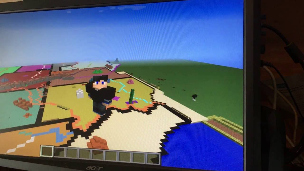 Minecraft Map Of The United States Part CA YouTube - Minecraft us map