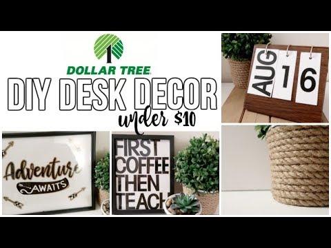 DOLLAR TREE DIY | DESK DECOR | BACK TO SCHOOL | SENSATIONAL FINDS COLLAB
