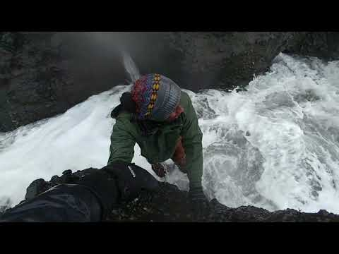 Big Wave Takes Steven Under At Black Sand Beach In Iceland