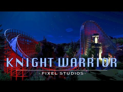 Planet Coaster: Knight Warrior At Night [Wooden Coaster]