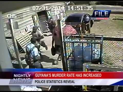 GUYANA'S MURDER RATE HAS INCREASED
