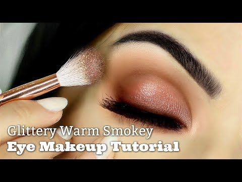 Beginners Eye Makeup Tutorial | Smokey Glitter | How To Apply Eyeshadow thumbnail
