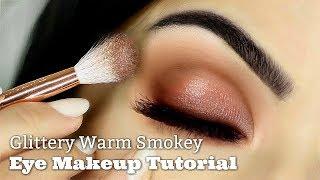 Beginners Eye Makeup Tutorial | Smokey Glitter | How To Apply Eyeshadow