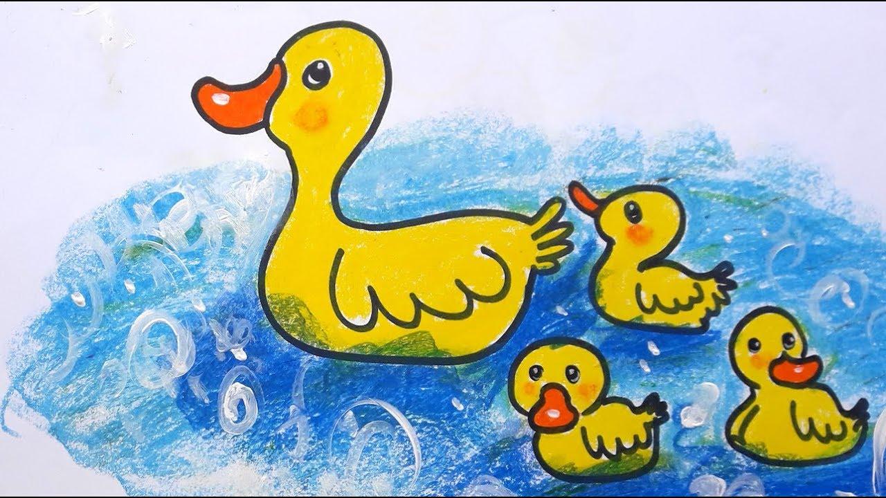Cocuk Ordek Cizim Boyama Duck Coloring Drawing Forkids 6 Diy