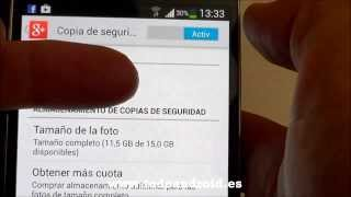 Evitar consumo de datos, copia de seguridad de fotos y videos a Google+
