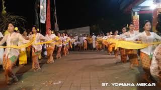 Ngayah Sasolahan Rejang Sari Oleh Pemudi ST. Yowana Mekar Br. Dualang Peguyangan Kaja