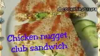 Chicken nuggets club sandwich @Samee cooking recipes