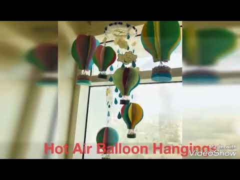 How To Make Diy Paper Hot Air Balloon Hangingwind Chimedecorate