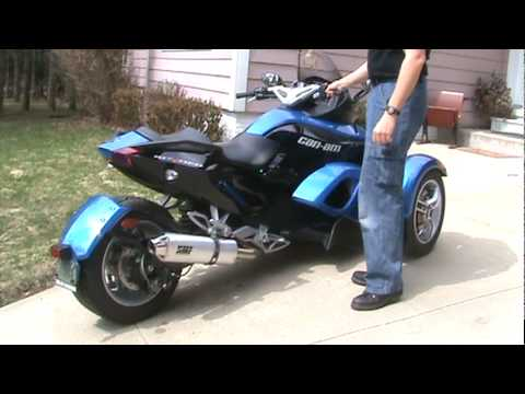 Can Am Spyder With Hmf Performance Exhaust Youtube