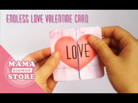 How To Make An Endless Love Card  YouTube