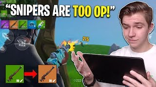 Fortnite Buffed the snipers and I turned into a god (hunting rifle OP!)
