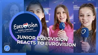 Junior Eurovision stars react to the Eurovision Song Contest!