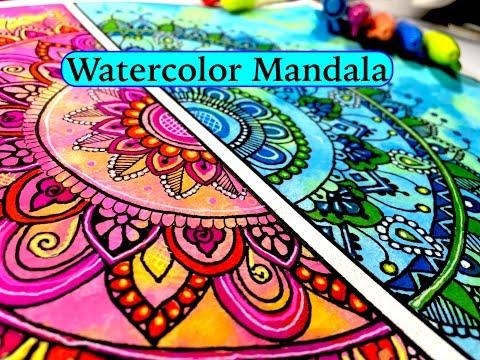 Watercolor Mandala art //Drawing 1