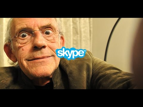 Christopher Lloyd joined the Back to the Future super on a Skype video call