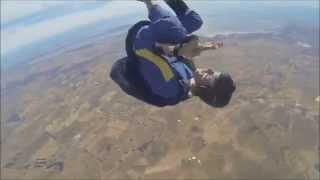 Jovem paraquedista tem convulsão durante salto de paraquedas