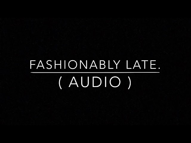 Falling in reverse - Fashionably late    audio