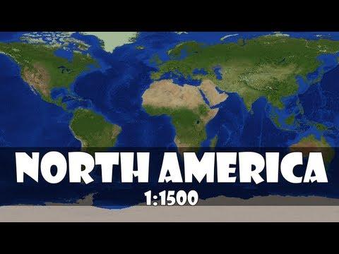 North America 1:1500 Scale In Minecraft