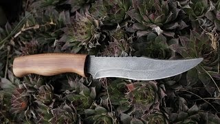 Making damascus steel knife