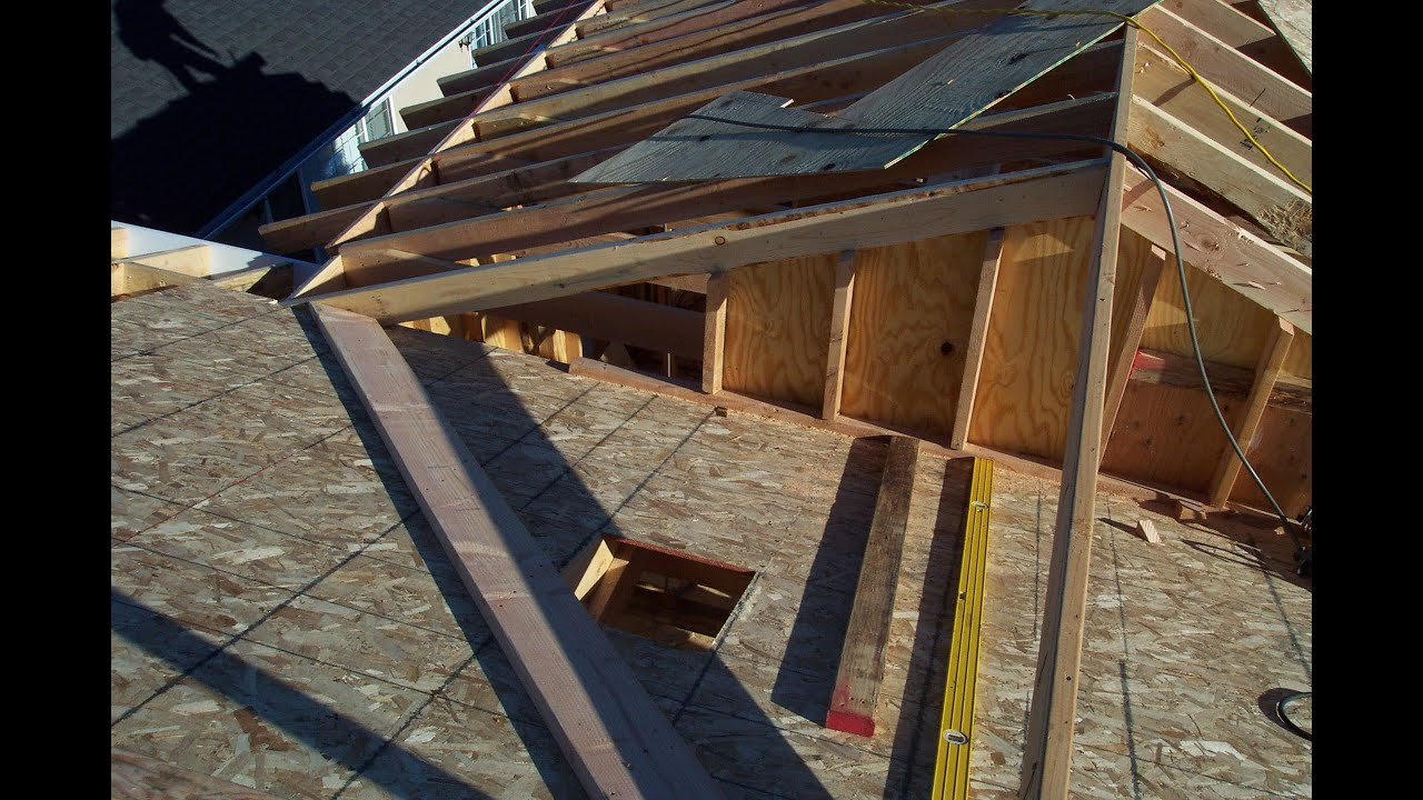 Two different examples for installing home addition roof sheathing soffit and exposed rafter eaves