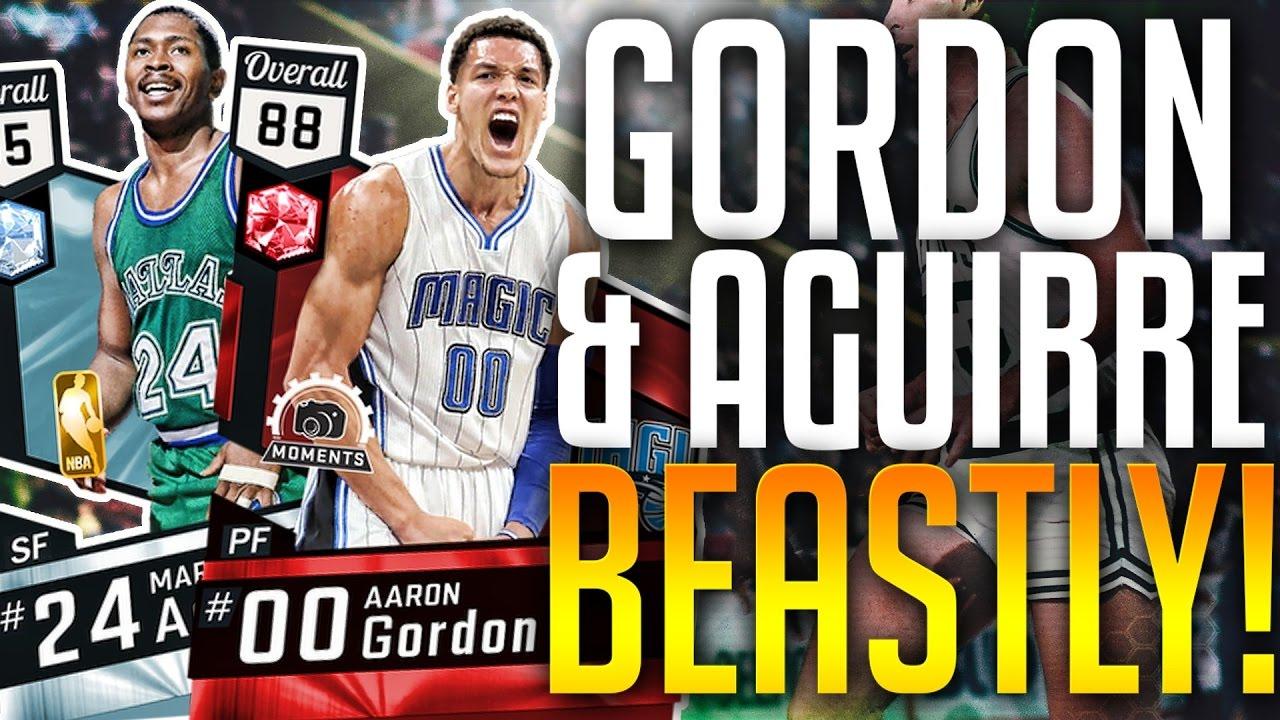 NBA 2K17 MYTEAM DIAMOND MARK AGUIRRE & RUBY AARON GORDON SO