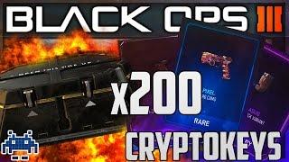 x200 CRYPTOKEYS RARE SUPPLY DROP OPENING! BO3 LEGENDARY CAMO EPIC & RARE CAMOS! + SHOWCASE