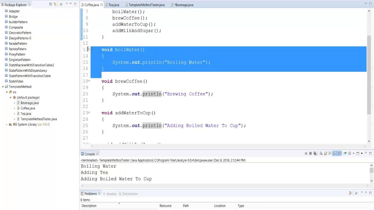 Template Method Pattern Java Implementation