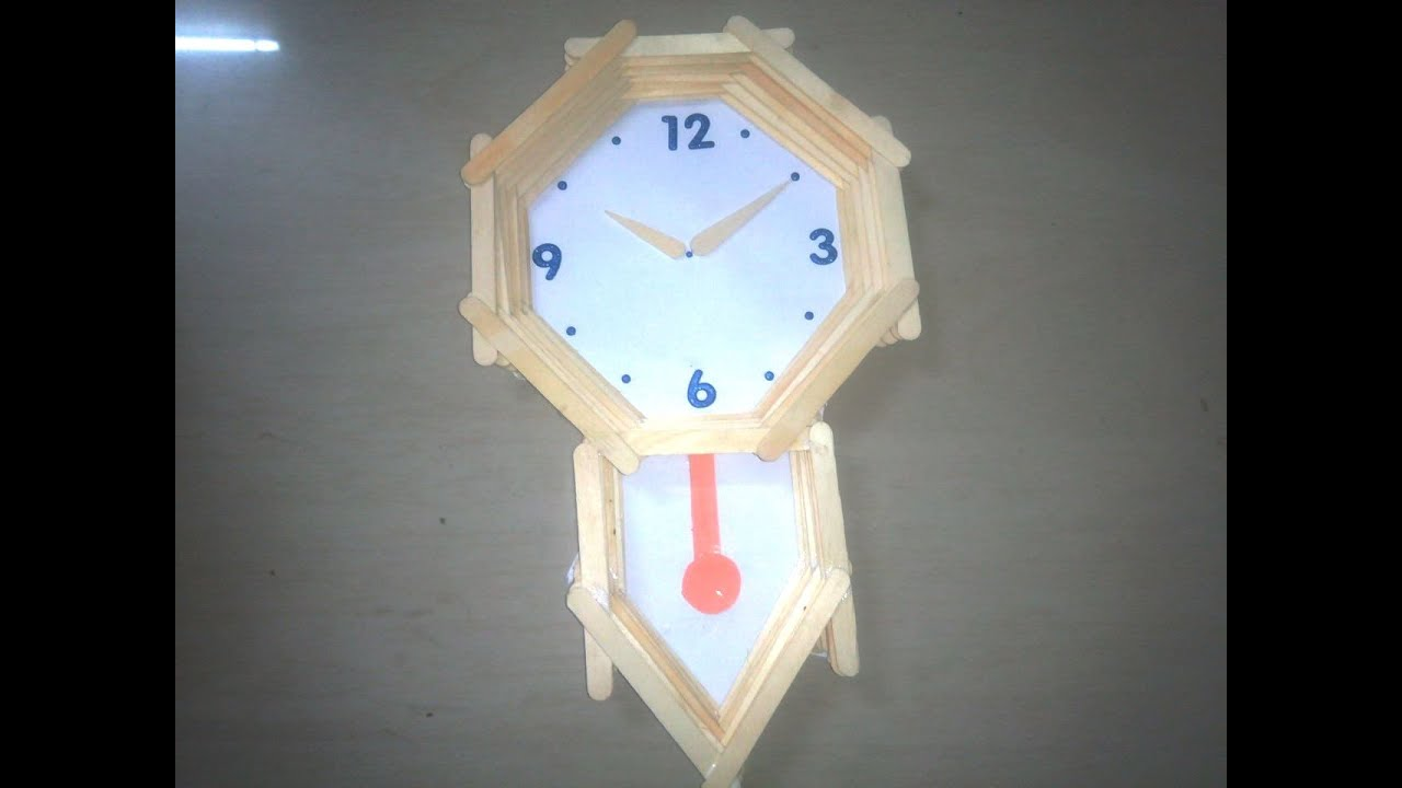 How To Make Pendulum Wall Clock With Ice Cream Sticks