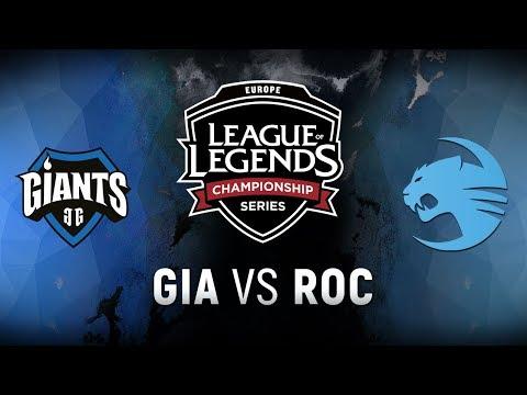 GIA vs. ROC  - Week 3 Day 1 | EU LCS Spring Split |  Giants Gaming vs. Team Roccat (2018)