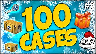 100 CASE UNBOXINGS CHRISTMAS SPECIAL ★ DECEMBER DAILY CASES DAY 9 - CS:GO CASE OPENING / UNBOXING