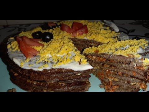 Печеночный торт. Ну очень вкусный рецепт)))