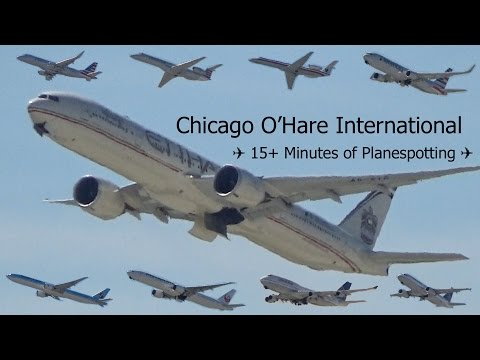 (HD) EPIC 15+ Minutes of Planespotting at Chicago O
