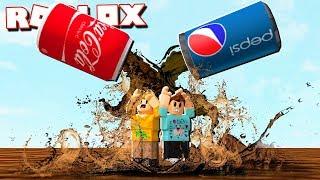 Roblox Adventures - COCA COLA & PEPSI FLOOD! (Koks gegen Pepsi-Krieg)