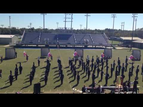 Tahlequah High School Orange Express prelims performance @ Pryor band day 10-10-15