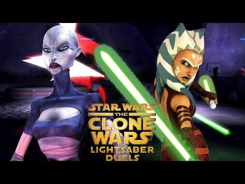 Clone Wars Lightsaber Duels Asajj Ventress Vs Ahsoka Tano