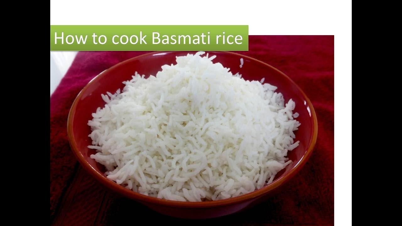 how to perfectly cook basmati rice